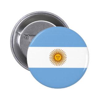 Bandera de la Argentina Chapa Redonda De 5 Cm
