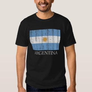 Bandera de la Argentina del vintage Camiseta