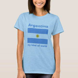 Bandera de la Argentina + Mapa + Camiseta del