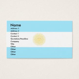 Bandera de la Argentina Tarjeta De Visita