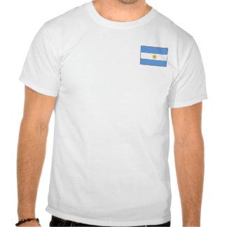 Bandera de la Argentina y camiseta del mapa