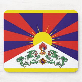 Bandera de la bandera del león de Tíbet o de la Alfombrilla De Ratón