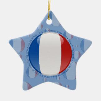 Bandera de la burbuja de Francia Adorno De Cerámica En Forma De Estrella
