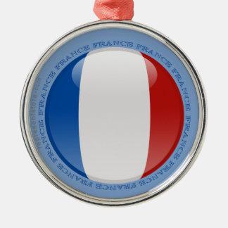 Bandera de la burbuja de Francia Adorno Redondo Plateado