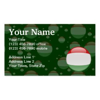 Bandera de la burbuja de Hungría Tarjetas De Visita
