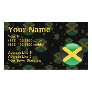 Bandera de la burbuja de Jamaica Tarjetas De Visita