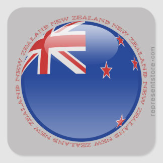 Bandera de la burbuja de Nueva Zelanda Pegatina Cuadrada