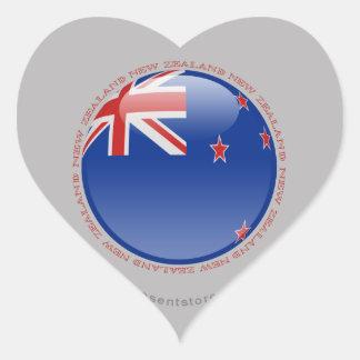 Bandera de la burbuja de Nueva Zelanda Calcomanía Corazón Personalizadas
