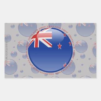 Bandera de la burbuja de Nueva Zelanda Etiqueta