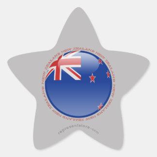 Bandera de la burbuja de Nueva Zelanda Pegatina En Forma De Estrella