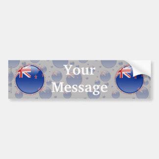 Bandera de la burbuja de Nueva Zelanda Pegatina Para Coche