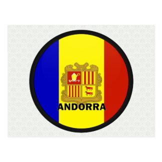 Bandera de la calidad de Andorra Roundel Postal