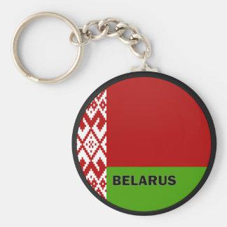 Bandera de la calidad de Bielorrusia Roundel Llavero Redondo Tipo Chapa