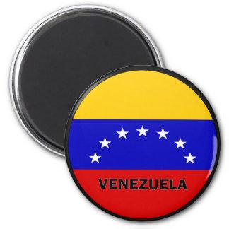 Bandera de la calidad de Venezuela Roundel Imán Redondo 5 Cm