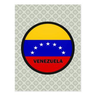 Bandera de la calidad de Venezuela Roundel Postales