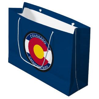 Bandera de la circular de Colorado Bolsa De Regalo Grande