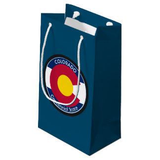 Bandera de la circular de Colorado Bolsa De Regalo Pequeña