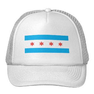 Bandera de la ciudad de Chicago Gorros Bordados