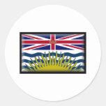 Bandera de la Columbia Británica Etiqueta