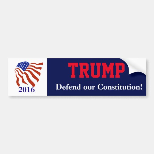 Bandera de la constitución de Donald Trump Pegatina Para Coche