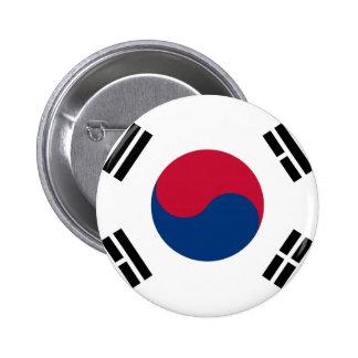 Bandera de la Corea del Sur - 태극기 - 대한민국의국기 Chapa Redonda De 5 Cm