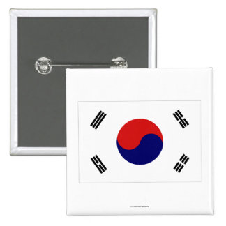 Bandera de la Corea del Sur Chapa Cuadrada 5 Cm
