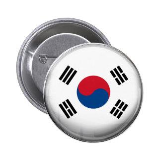 Bandera de la Corea del Sur Chapa Redonda 5 Cm