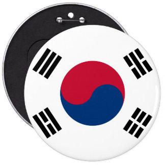 Bandera de la Corea del Sur Chapa Redonda De 15 Cm