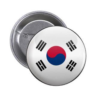 Bandera de la Corea del Sur Chapa Redonda De 5 Cm