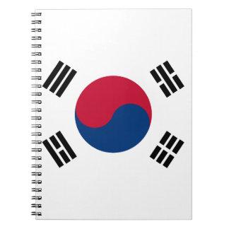 Bandera de la Corea del Sur Cuaderno