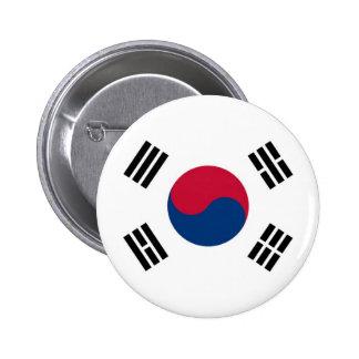 Bandera de la Corea del Sur en el Pin/la insignia Chapa Redonda De 5 Cm