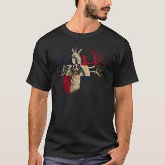 Bandera de la Dominicano-República en corazón real Camiseta
