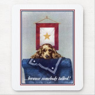 Bandera de la estrella del oro -- Porque alguien Alfombrilla De Ratón