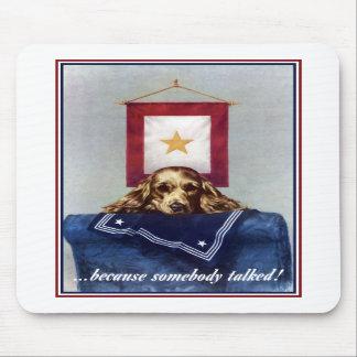 Bandera de la estrella del oro -- Porque alguien h Alfombrilla De Ratón