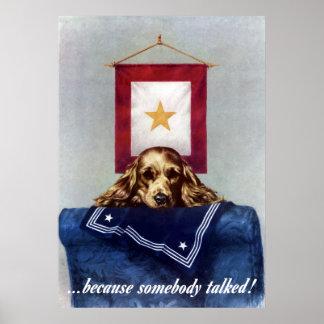 Bandera de la estrella del oro -- Porque alguien h Impresiones