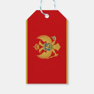 Bandera de la etiqueta del regalo de Montenegro Etiquetas Para Regalos