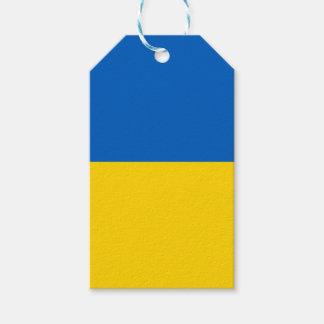 Bandera de la etiqueta del regalo de Ucrania Etiquetas Para Regalos