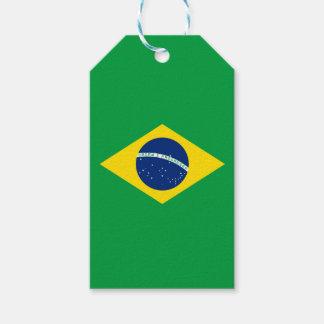 Bandera de la etiqueta del regalo del Brasil Etiquetas Para Regalos
