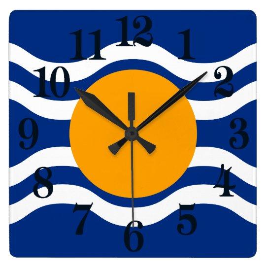 Bandera de la federación de las Antillas Reloj Cuadrado