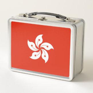 Bandera de la fiambrera del metal de Hong Kong