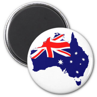 Bandera de la forma de Australia Imanes
