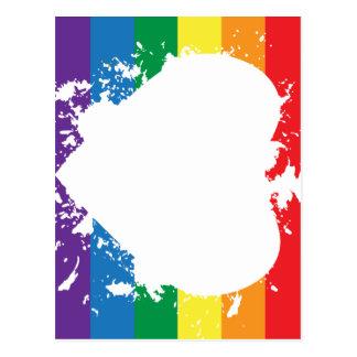 Bandera de la Gay-Orgullo-Corazón-Invertir-Pintura Postal