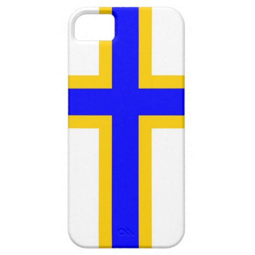 Bandera de la gente de los Finns de Suecia iPhone 5 Protectores