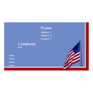 Bandera de la guerra civil tarjetas de visita