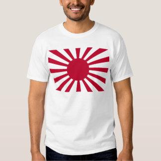 Bandera de la guerra del sol naciente del ejército camisetas