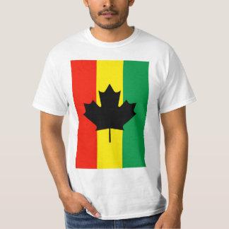 Bandera de la hoja de arce del reggae de Rasta Camisetas