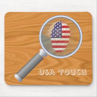 Bandera de la huella dactilar del tacto de los alfombrilla de ratón