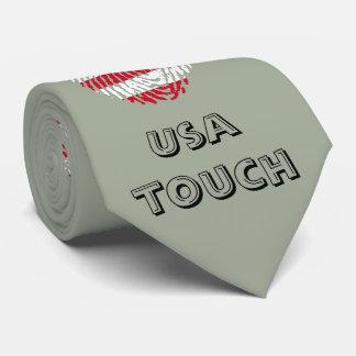 Bandera de la huella dactilar del tacto de los corbatas personalizadas