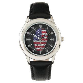 Bandera de la huella dactilar del tacto de los reloj de pulsera