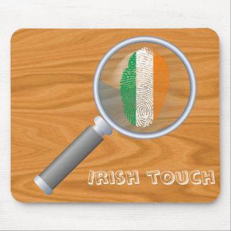 Bandera de la huella dactilar del tacto del alfombrilla de ratón